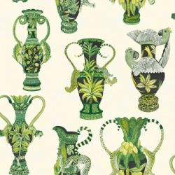 Khulu Vases in 'Green & White'