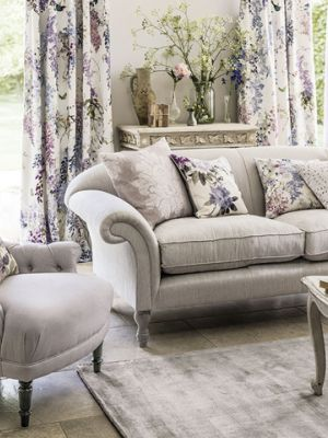 2 Waterperry Fabrics Carousel Sofa Flowers