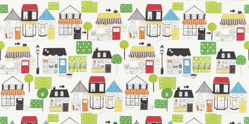 All About Me   Boutique Boulevard Fabric In Black And White Multi