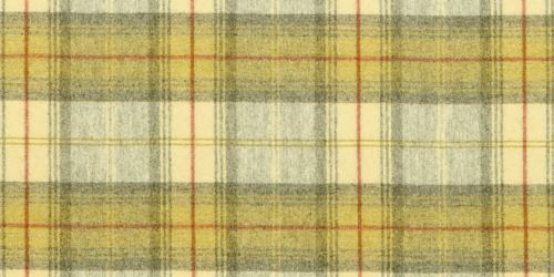 Sanderson's Woodford Plaid Fabric in Ivory/Catkin from the 'Highlands' Fabric Collection