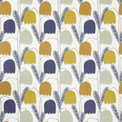 Fitilla Fabric In Dandelion Ginger Pebble