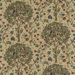 Kelmscott Tree Fabric in 'Forest/Gold' from the 'Archive Prints' Fabric Collection