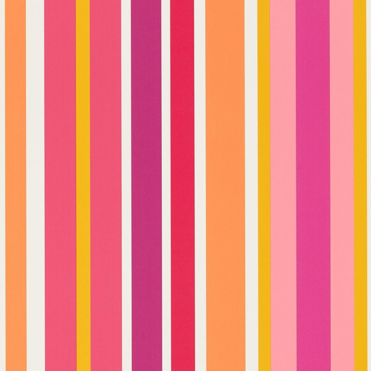 Pink and orange striped walls