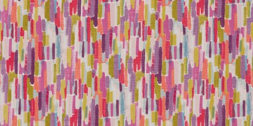 Harlequin's Trattino Fabric in Ocean/Lime/Fuchsia from the 'Fauvisimo' Fabric Collection