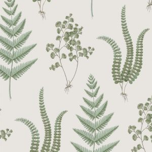 Herba 4021 Wallpaper in 'Green/Brown/Beige/White'