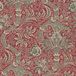Morris & Co Indian Wallpaper In Red Black