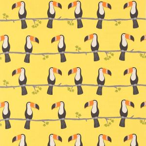 Terry Toucan Tangerine Charcoal Maize  1386 1386