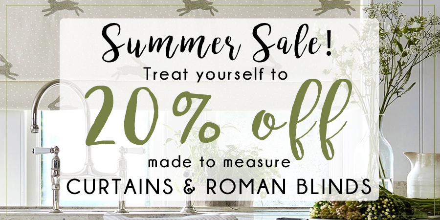 Summer Sale - 20% off made to measure curtains & roman blinds