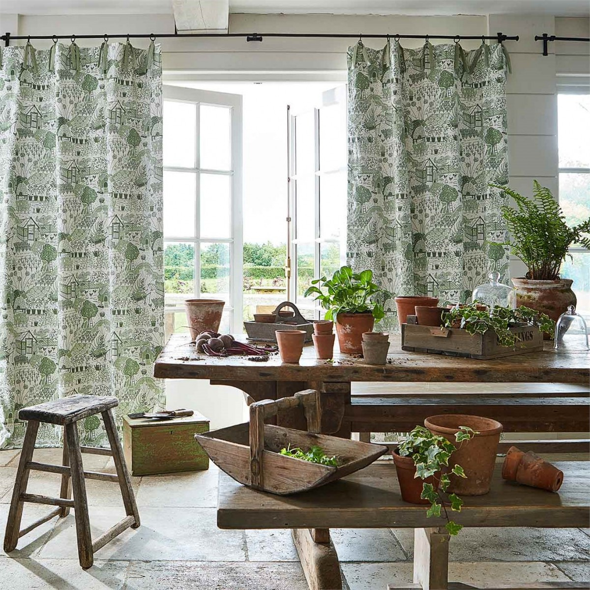 1-fabric-curtains-botanical-greenery-allotment-potting-room-at-style-library