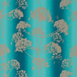 Angeliki Wallpaper from the 'Callista' Collection in Ocean/Silver