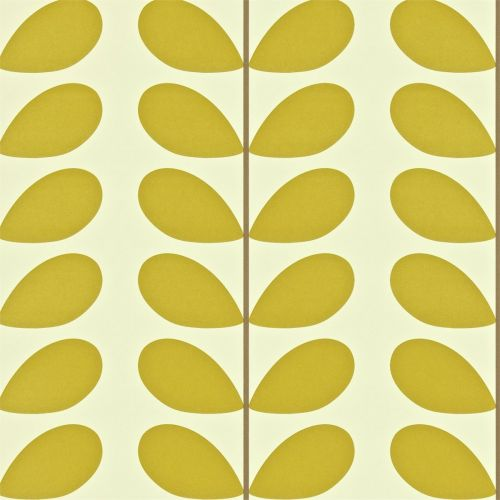 Classic Stem Wallpaper in Olive