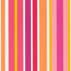 Guess Who   Jelly Tot Stripe Wallpaper In Raspberry Blancmange