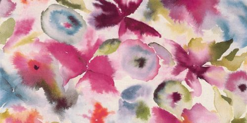 Harlequin's Flores Fabric in Fuchsia/Zest/Azure from the 'Tresillo' Fabric Collection