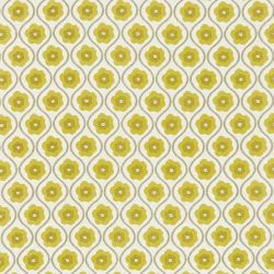 Harlequin Folia Sira Fabric 130334 Chartreuse Neutral Linen