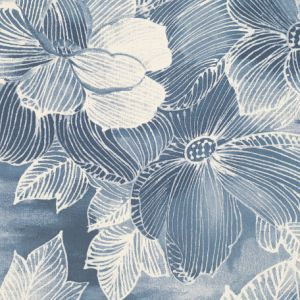 Akina Wallpaper in 'Indigo'