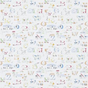Little Sanderson Alphabet Zoo Wallpaper In Rainbow Brights