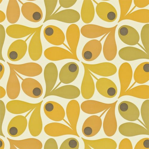 Multi Acorn Spot Wallpaper in Saffron