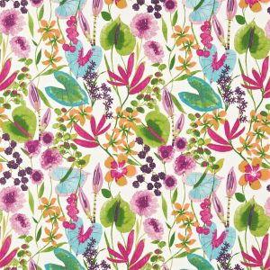 Nalina Fabric Flamingo   Papaya   Loganberry