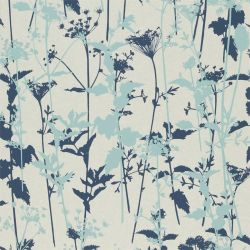 Nettles from the 'Kallianthi' Wallpaper Collection in Pearl/Duckegg/Ink