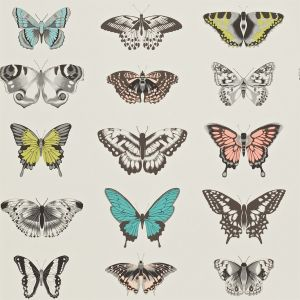 Papilio Wallpaper Peach   Lagoon   Zest