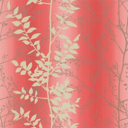 Persephone from the 'Kallianthi' Wallpaper Collection in Coral/Honeycomb/Pewter