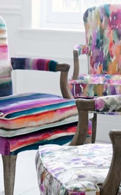 The 'Iridescence Velvets' Fabric Collection