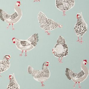 Studio G Sketchbook Rooster Fabric F0523/02 in 'Duckegg'