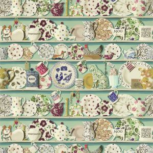 The Dresser Wallpaper In Duck Egg Multi