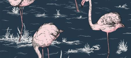 Flamingo 112/11041 'Ink & Alabaster Pink'
