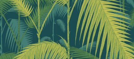 Palm Jungle 112/1002 'Petrol & Lime'